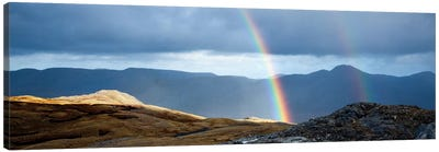 Double Rainbow, Twelve Bens, Connemara, County Galway, Connacht Province, Republic Of Ireland Canvas Art Print