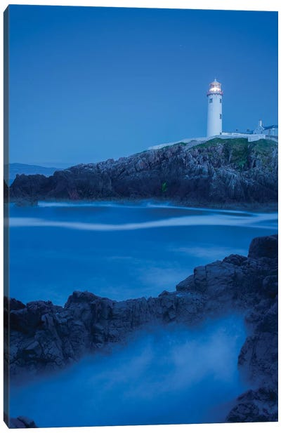 Dusk I, Fanad Head Lighthouse, County Donegal, Ulster Province, Republic Of Ireland Canvas Art Print