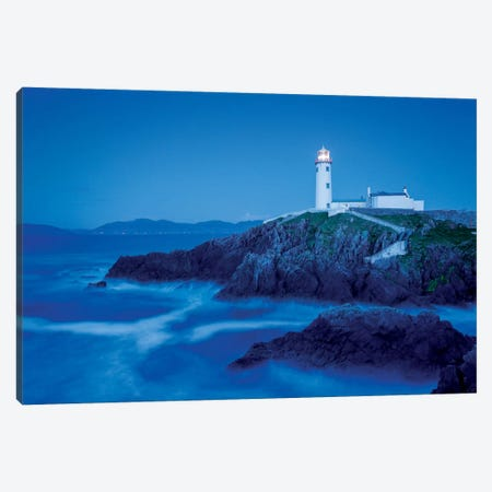 Dusk II, Fanad Head Lighthouse, County Donegal, Ulster Province, Republic Of Ireland Canvas Print #GAR36} by Gareth McCormack Canvas Wall Art