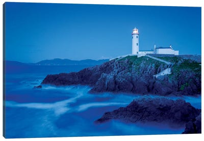 Dusk II, Fanad Head Lighthouse, County Donegal, Ulster Province, Republic Of Ireland Canvas Art Print