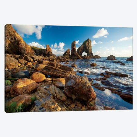 Evening Coastal Landscape I, Crohy Head, County Donegal, Ulster Province, Republic Of Ireland Canvas Print #GAR37} by Gareth McCormack Canvas Artwork