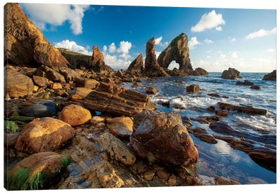 Evening Coastal Landscape I, Crohy Head, County Donegal, Ulster Province, Republic Of Ireland Canvas Print #GAR37