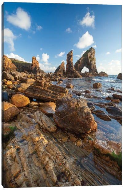 Evening Coastal Landscape II, Crohy Head, County Donegal, Ulster Province, Republic Of Ireland Canvas Print #GAR38