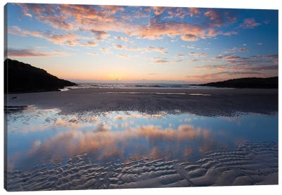 Evening Reflection I, False Bay, Connemara, County Galway, Connacht Province, Republic Of Ireland Canvas Art Print