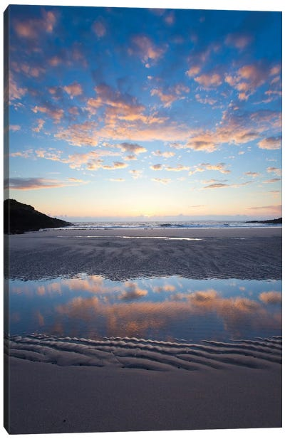 Evening Reflection II, False Bay, Connemara, County Galway, Connacht Province, Republic Of Ireland Canvas Art Print