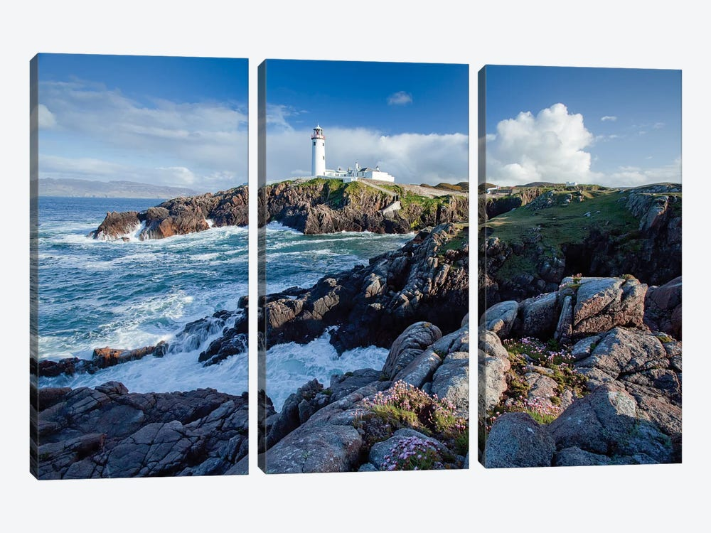 Fanad Head Lighthouse, County Donegal, Ulster Province, Republic Of Ireland by Gareth McCormack 3-piece Canvas Art Print