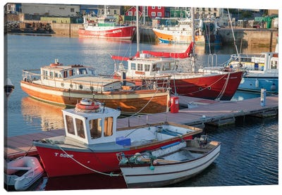 Fishing Boats I, Dingle Harbour, County Kerry, Munster Province, Republic Of Ireland Canvas Art Print