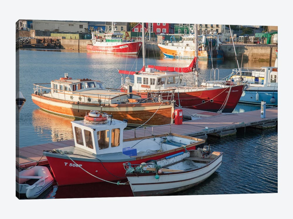 Fishing Boats I, Dingle Harbour, County Kerry, Munster Province, Republic Of Ireland by Gareth McCormack 1-piece Canvas Wall Art