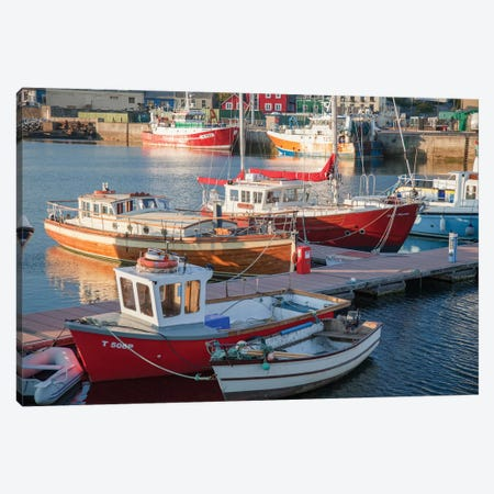 Fishing Boats I, Dingle Harbour, County Kerry, Munster Province, Republic Of Ireland Canvas Print #GAR43} by Gareth McCormack Canvas Art