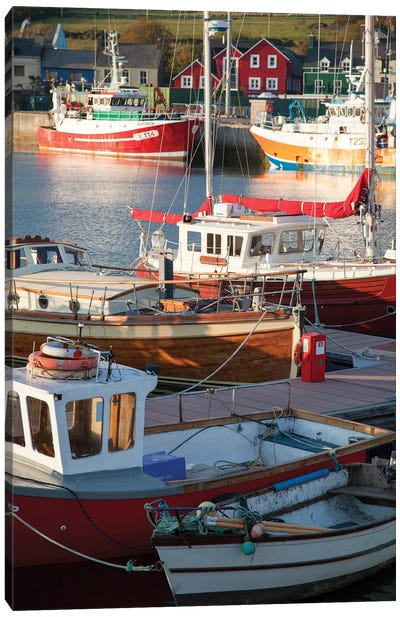 Fishing Boats II, Dingle Harbour, County Kerry, Munster Province, Republic Of Ireland Canvas Art Print