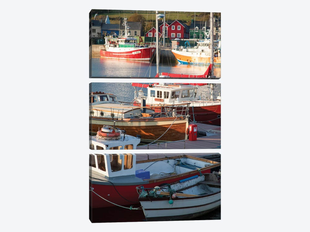 Fishing Boats II, Dingle Harbour, County Kerry, Munster Province, Republic Of Ireland by Gareth McCormack 3-piece Canvas Art Print