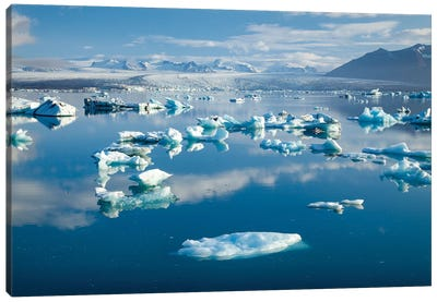 Icebergs II, Jokulsarlon Glacier Lake, Vatnajokull National Park, Sudurland, Iceland Canvas Art Print