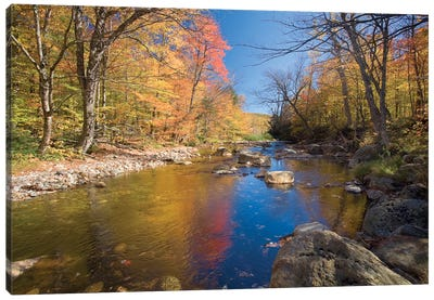 Autumn Landscape, Ellis River, White Mountains, New Hampshire, USA Canvas Art Print