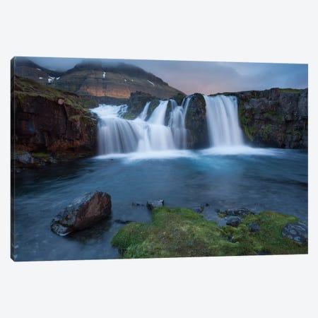 Kirkjufellsfoss, Grundarfjordur, Snaefellsnes Peninsula, Vesturland, Iceland Canvas Print #GAR53} by Gareth McCormack Canvas Print