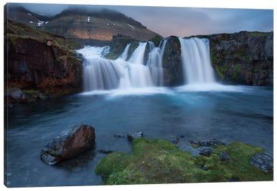 Kirkjufellsfoss, Grundarfjordur, Snaefellsnes Peninsula, Vesturland, Iceland Canvas Art Print
