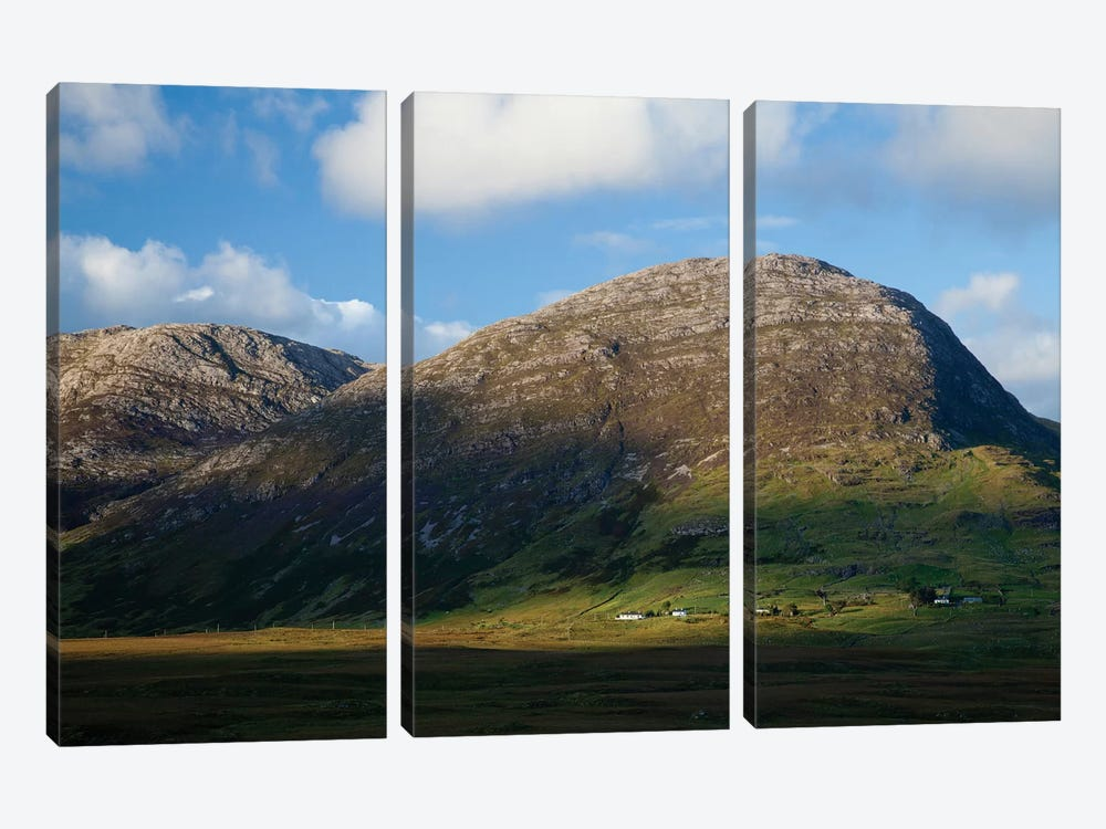 Knocknahillion, Maumturk Mountains, Connemara, County Galway, Connacht Province, Republic Of Ireland 3-piece Canvas Artwork