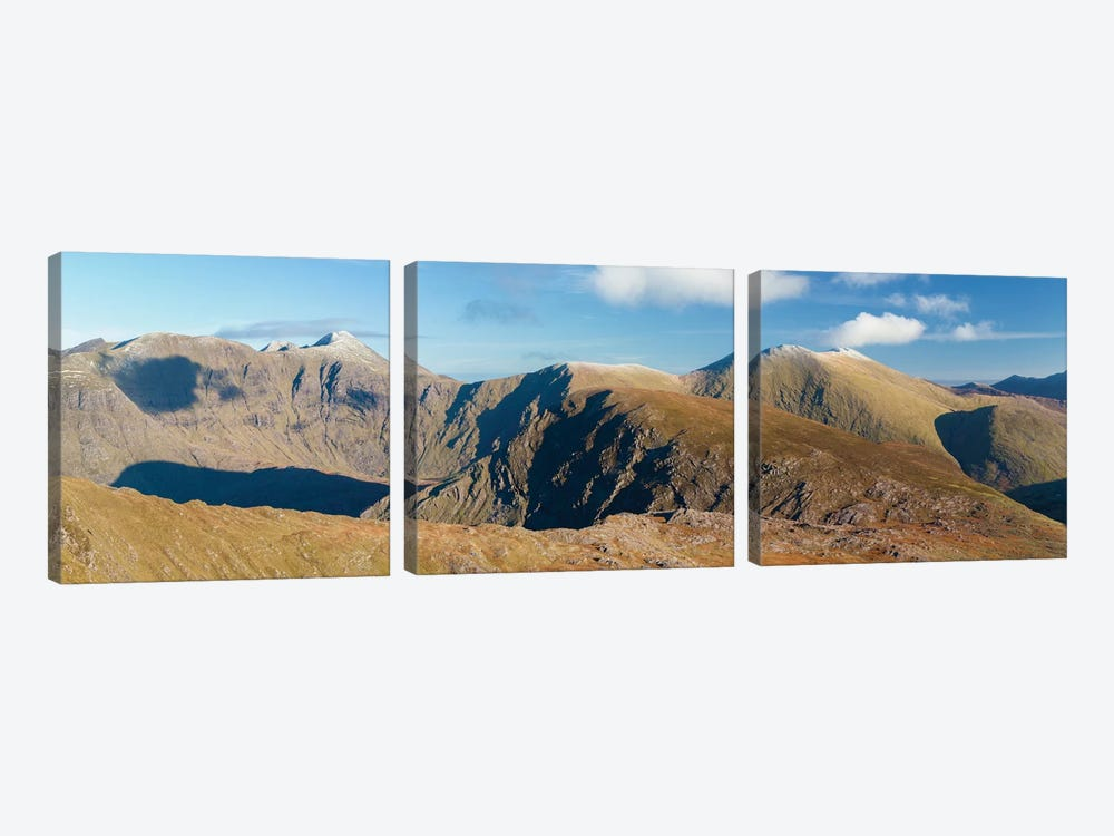 Macgillycuddy's Reeks As Seen From Stumpa Duloigh, County Kerry, Munster Province, Republic Of Ireland 3-piece Canvas Art Print