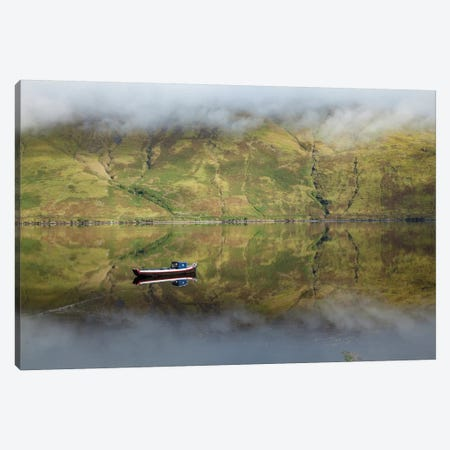 Misty Reflection, Killary Harbour, Connemara, County Mayo, Connacht Province, Republic Of Ireland Canvas Print #GAR60} by Gareth McCormack Canvas Artwork
