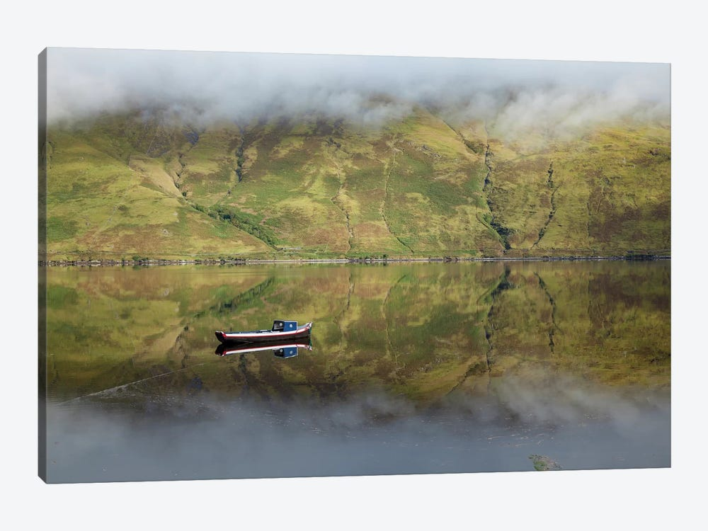 Misty Reflection, Killary Harbour, Connemara, County Mayo, Connacht Province, Republic Of Ireland by Gareth McCormack 1-piece Canvas Print