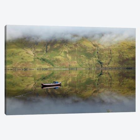 Misty Reflection, Killary Harbour, Connemara, County Mayo, Connacht Province, Republic Of Ireland Canvas Print #GAR60} by Gareth McCormack Canvas Artwork