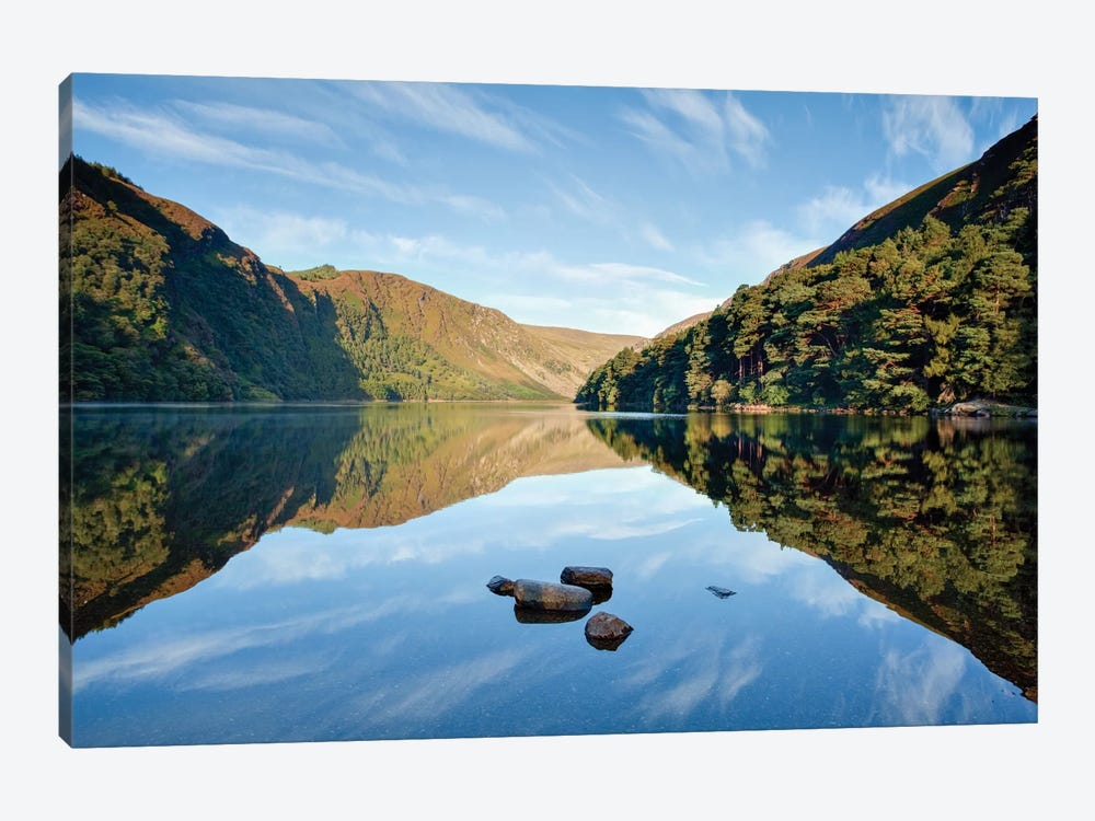 Morning Reflection, Upper Lake, Glendalough, County Wicklow, Leinster Province, Republic Of Ireland 1-piece Art Print