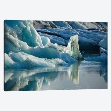 Natural Ice Sculptures, Jokulsarlon Glacier Lake, Vatnajokull National Park, Sudurland, Iceland Canvas Print #GAR65} by Gareth McCormack Art Print