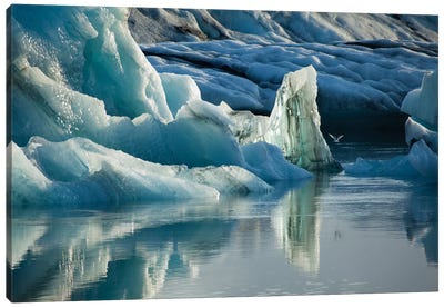 Natural Ice Sculptures, Jokulsarlon Glacier Lake, Vatnajokull National Park, Sudurland, Iceland Canvas Art Print