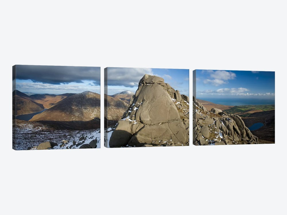 North Tor, Slieve Binnian, Mourne Mountains, County Down, Ulster Province, Northern Ireland, United Kingdom by Gareth McCormack 3-piece Canvas Print