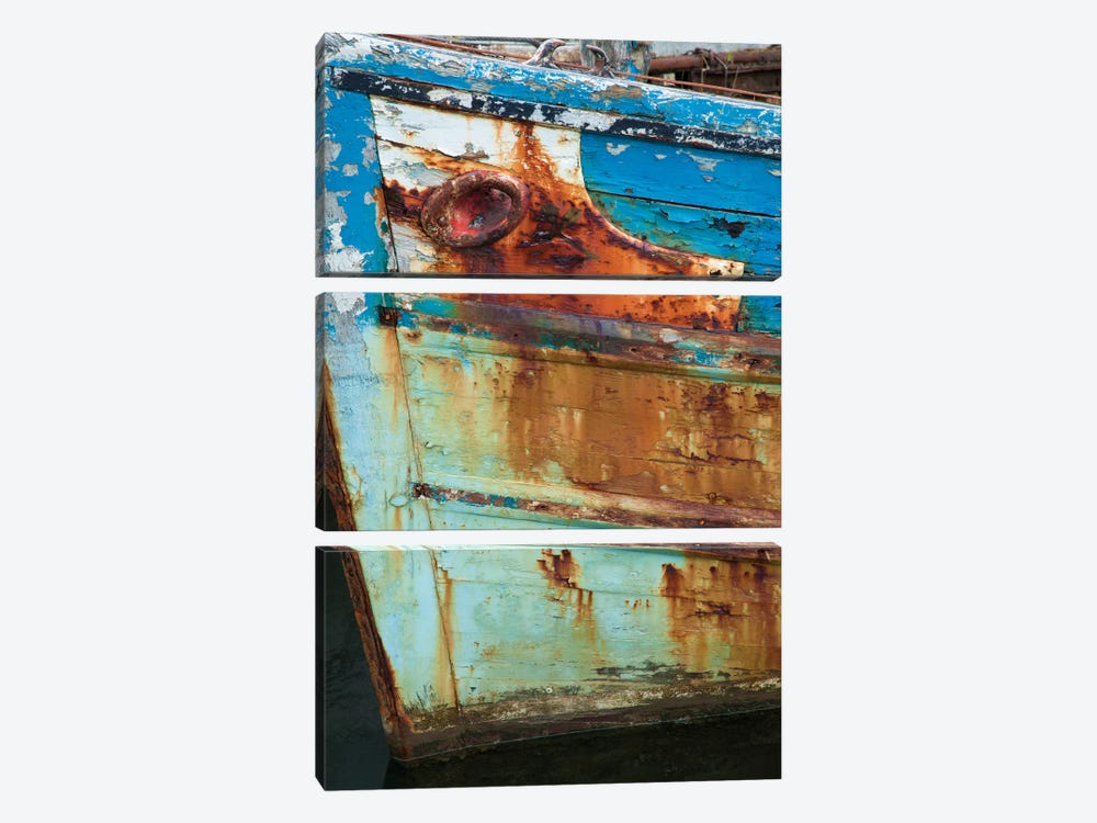 Old Fishing Boat II, Killala, County Mayo, Connacht Province, Republic Of Ireland by Gareth McCormack 3-piece Canvas Artwork