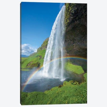 Rainbow II, Seljalandsfoss, Sudurland, Iceland Canvas Print #GAR72} by Gareth McCormack Canvas Art Print