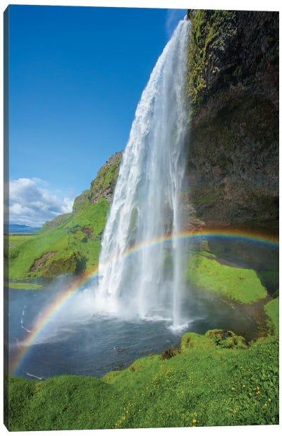 Rainbow II, Seljalandsfoss, Sudurland, Iceland Canvas Art Print