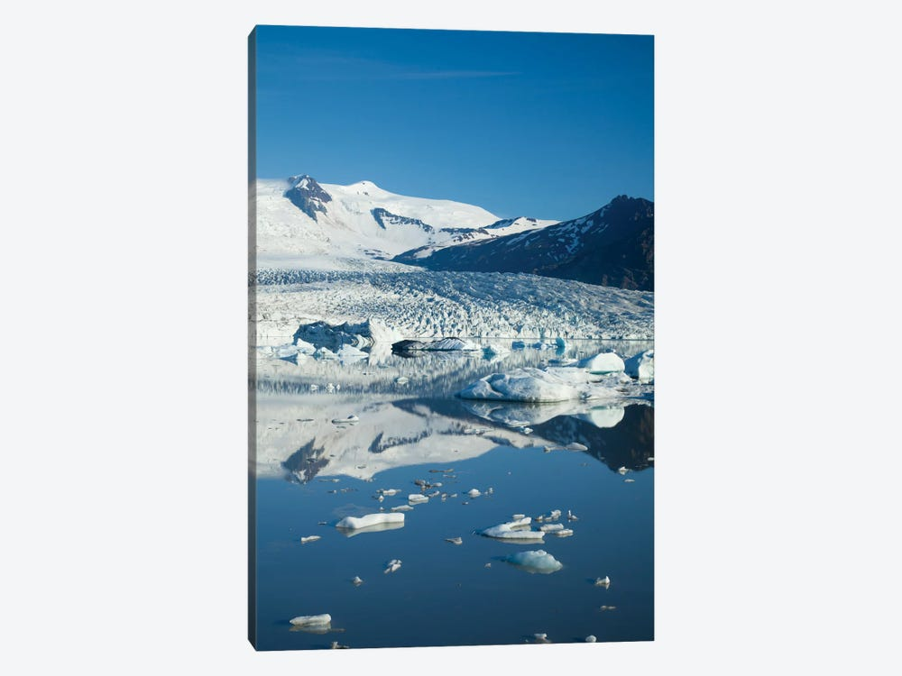 Reflection Of Fjallsjokull II, Fjallsarlon Glacier Lake, Vatnajokull National Park, Sudurland, Iceland by Gareth McCormack 1-piece Canvas Artwork