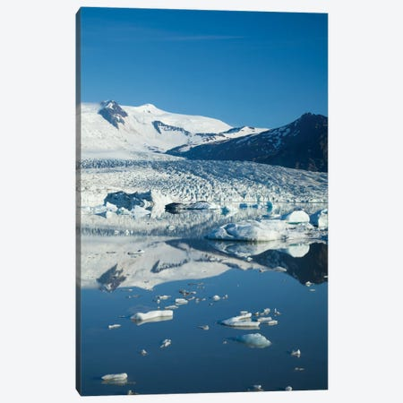 Reflection Of Fjallsjokull II, Fjallsarlon Glacier Lake, Vatnajokull National Park, Sudurland, Iceland Canvas Print #GAR74} by Gareth McCormack Canvas Artwork