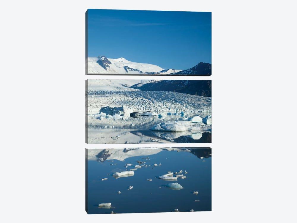 Reflection Of Fjallsjokull II, Fjallsarlon Glacier Lake, Vatnajokull National Park, Sudurland, Iceland by Gareth McCormack 3-piece Canvas Art