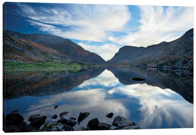 Reflection, Gap Of Dunloe, County Kerry, Munster Province, Republic Of Ireland Canvas Art Print