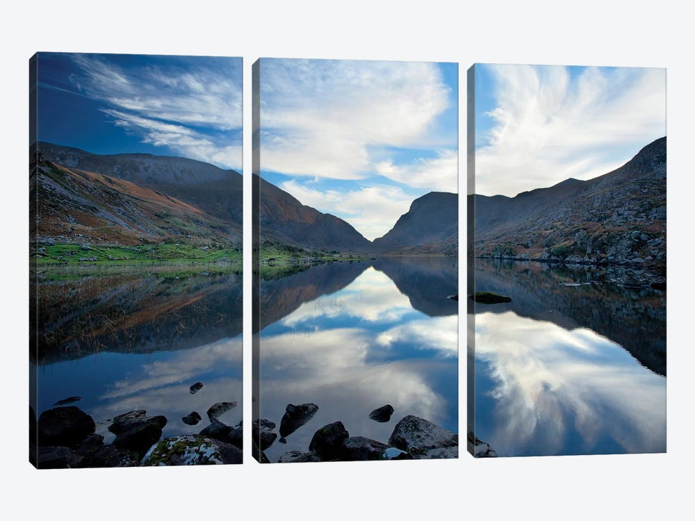 Reflection, Gap Of Dunloe, County Kerry, Munster Province, Republic Of Ireland by Gareth McCormack 3-piece Canvas Art Print