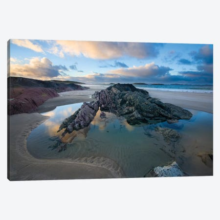 Rock Outcrops, Glassillaun Beach, Connemara, County Galway, Connacht Province, Republic Of Ireland Canvas Print #GAR77} by Gareth McCormack Canvas Art