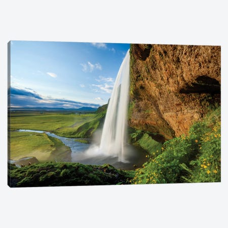 Seljalandsfoss II, Sudurland, Iceland 3-Piece Canvas #GAR79} by Gareth McCormack Canvas Art Print