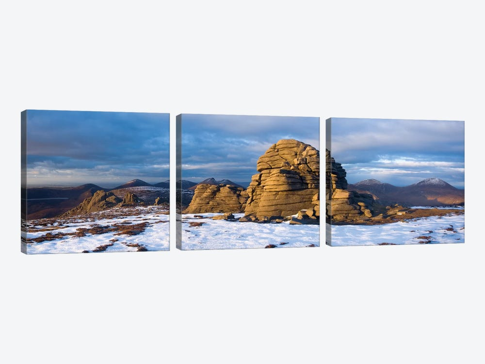Summit Tors, Slieve Binnian, Mourne Mountains, County Down, Ulster Province, Northern Ireland, United Kingdom by Gareth McCormack 3-piece Canvas Wall Art