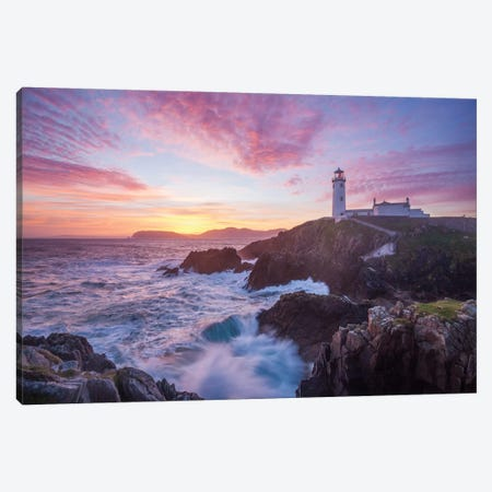 Sunrise, Fanad Head Lighthouse, County Donegal, Ulster Province, Republic Of Ireland Canvas Print #GAR82} by Gareth McCormack Canvas Artwork