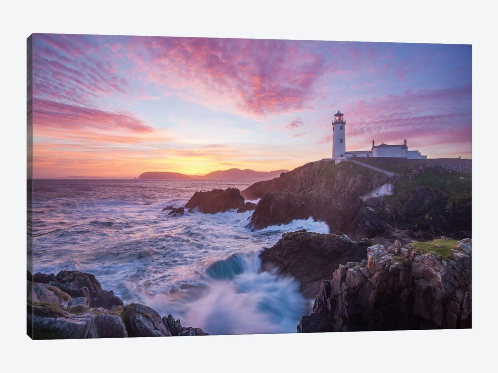 Sunrise, Fanad Head Lighthouse, County Donegal, Ulster Province, Republic Of Ireland by Gareth McCormack 1-piece Canvas Print