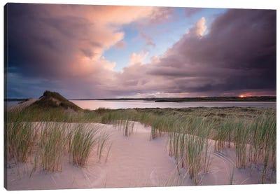 Sunset II, Dunes Of Enniscrone, County Sligo, Connacht Province, Republic Of Ireland Canvas Art Print