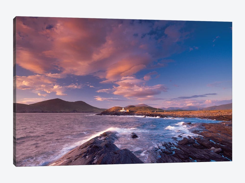 Sunset Over Cromwell Point Lighthouse, Valentia Island, County Kerry, Munster Province, Republic Of Ireland by Gareth McCormack 1-piece Art Print