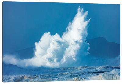 Breaking Waves, Clogher Head, Dingle Peninsula, County Kerry, Munster Province, Republic Of Ireland Canvas Art Print