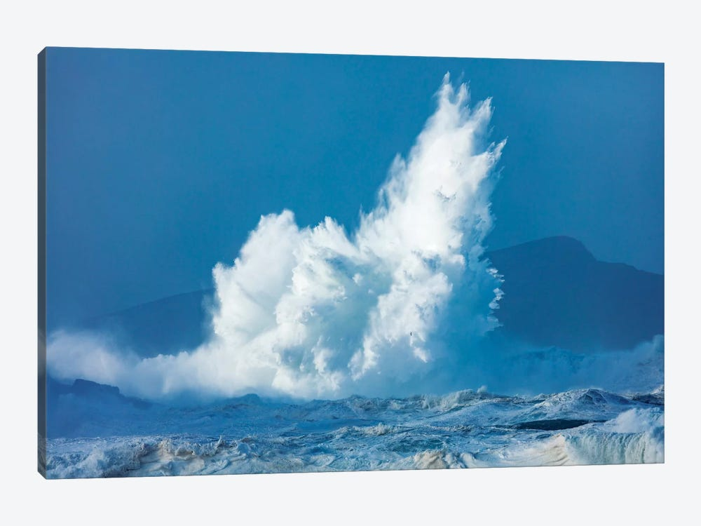 Breaking Waves, Clogher Head, Dingle Peninsula, County Kerry, Munster Province, Republic Of Ireland 1-piece Canvas Art