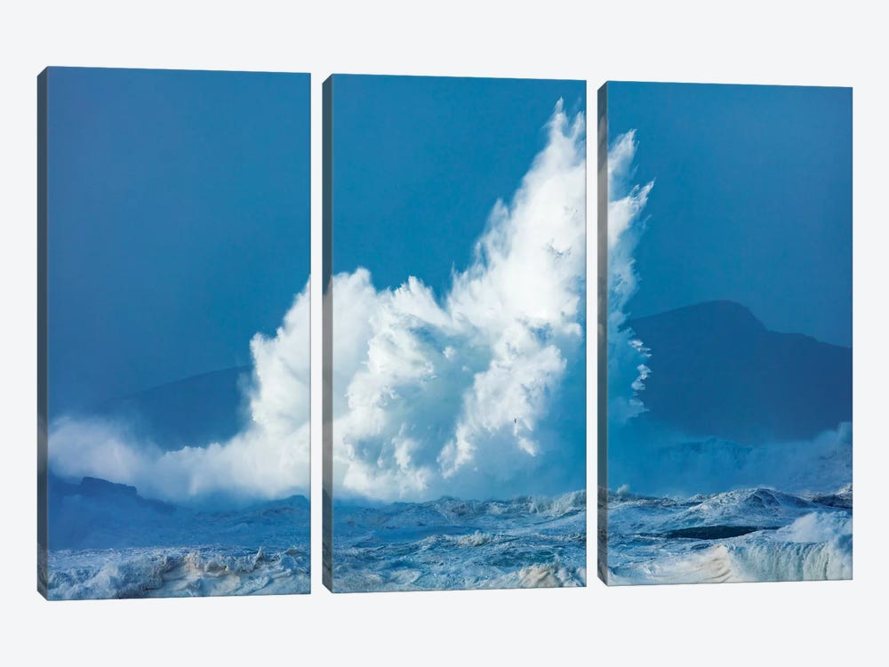 Breaking Waves, Clogher Head, Dingle Peninsula, County Kerry, Munster Province, Republic Of Ireland 3-piece Canvas Artwork