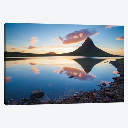 Sunset Reflection, Kirkjufell, Grundarfjordur, Snaefellsnes Peninsula, Vesturland, Iceland Canvas Print #GAR91} by Gareth McCormack Art Print