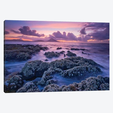 Sunset, Ballycroy,County Mayo, Connacht Province, Republic Of Ireland Canvas Print #GAR92} by Gareth McCormack Canvas Print