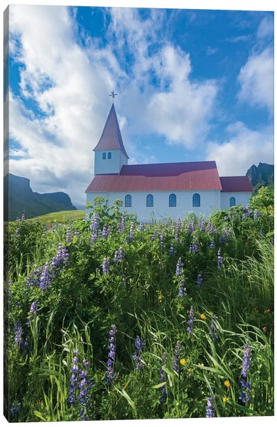 Town Church I, Vik I Myrdal, Sudurland, Iceland Canvas Art Print