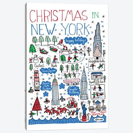 New York Christmas Canvas Print #GAS10} by Julia Gash Canvas Art